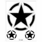 Adesivi Stickers Stella Militare 10 x 12 cm
