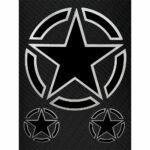 Stickers-Stella-Militare-10x12cm-B