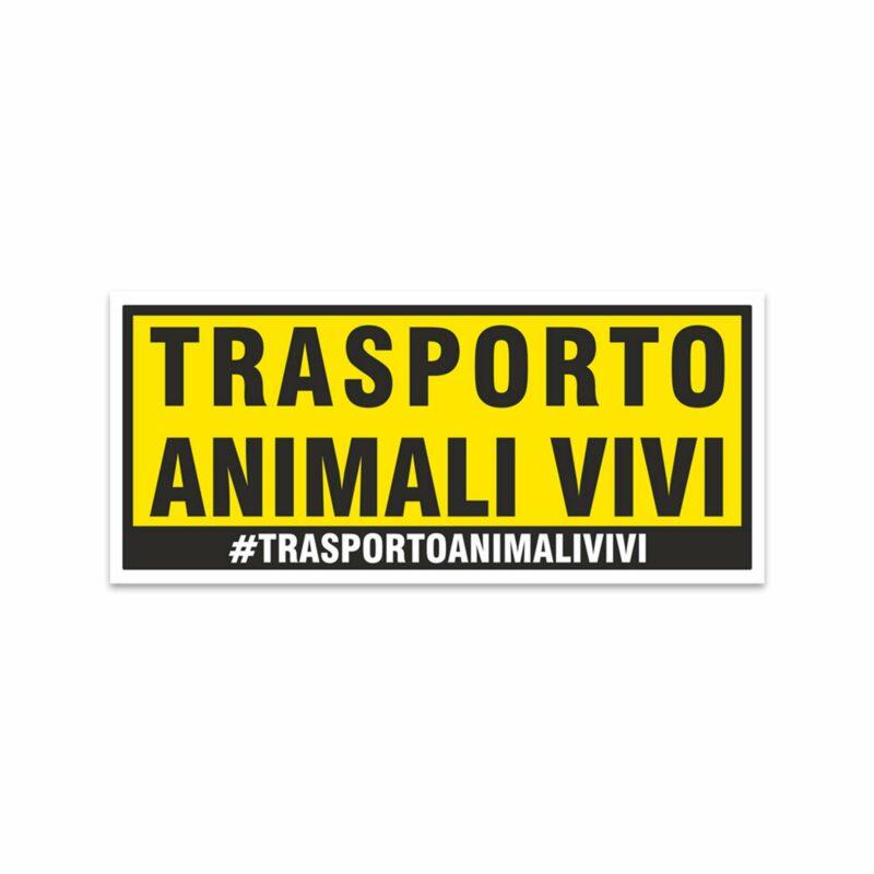 Adesivi Stickers Trasporto Animali Vivi 17,8 x 7,5 cm