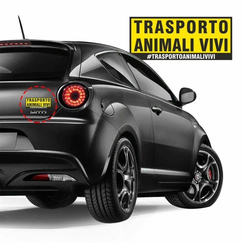 Adesivi Stickers Trasporto Animali Vivi 17,8 x 7,5 cm applicazione