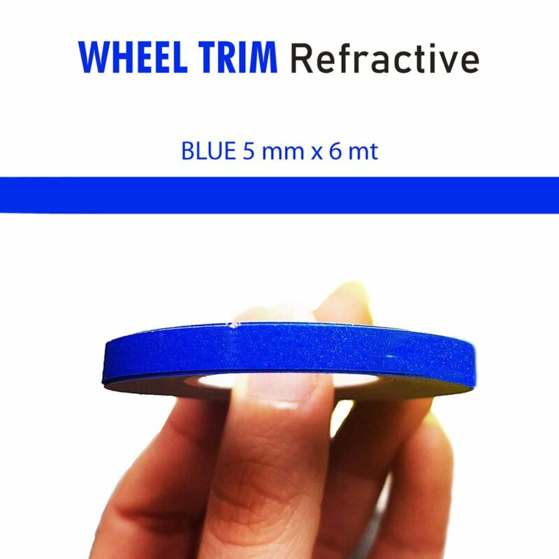 Wheel Trim Rifrangente blu
