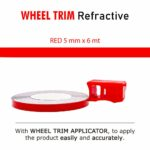 Wheel Trim Rifrangente con Applicatore rosso 5 mm