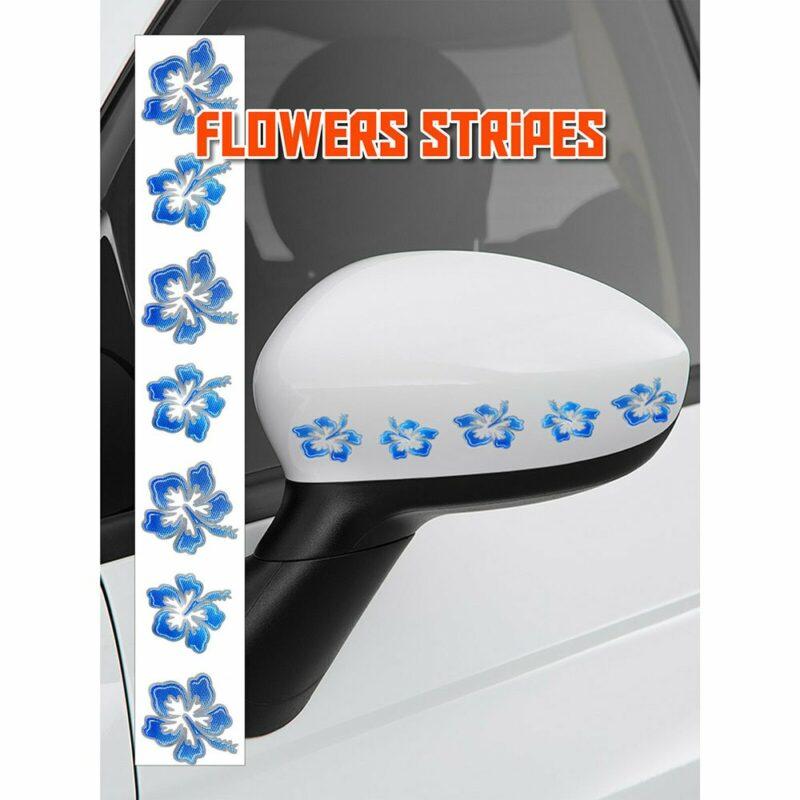Stripes Strisce Adesive Fiore, 3 x 33 cm