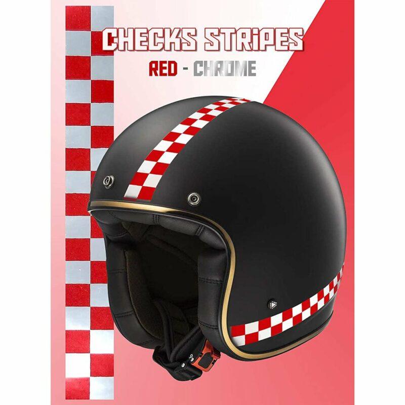 Stripes Strisce Adesive Scacchi, 2 x 33 cm rosso cromo