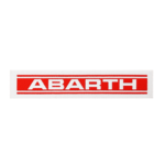Sticker Patch Logo Scritta Abarth, 115 x 26 mm