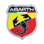 Sticker Patch Logo Abarth 74 x 80 mm