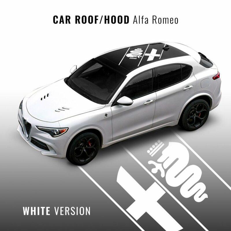 Decorazione Adesiva Universale Alfa Romeo per Carrozzeria bianco