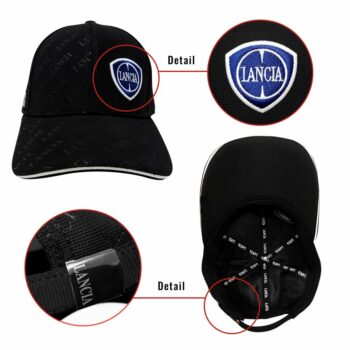 Cappellino Lancia Visiera Curva nero