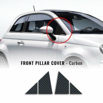 Adesivi Coprimontanti Anteriori Fiat 500 Abarth carbon