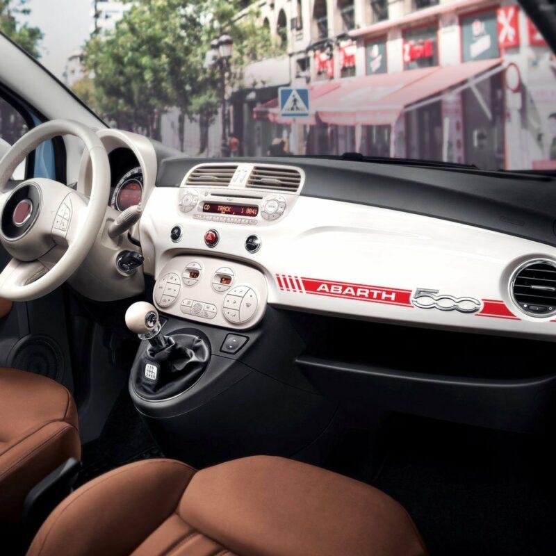 Stripes Strisce Adesive per Cruscotto Fiat 500 Abarth rosso applicazione