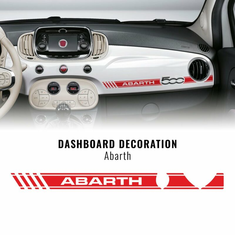 Stripes Strisce Adesive per Cruscotto Fiat 500 Abarth rosso