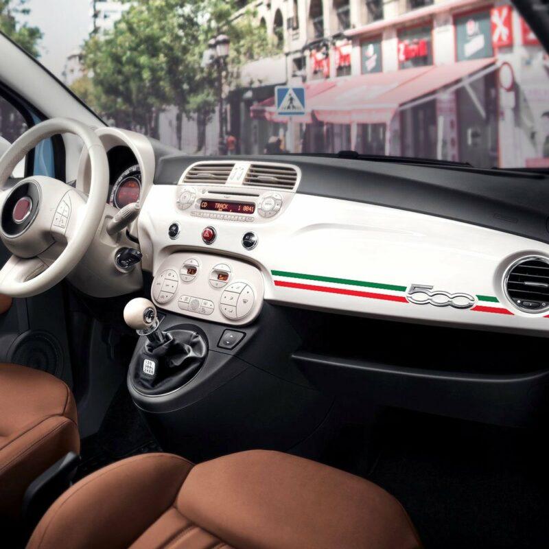 Stripes Strisce Adesive per Cruscotto Fiat 500 Abarth tricolore