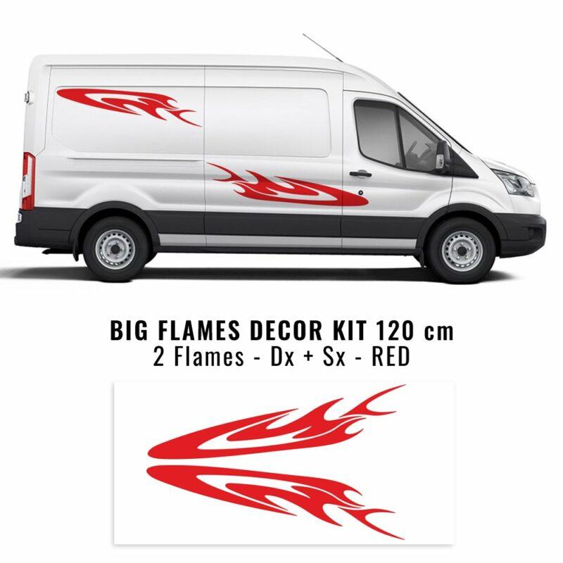 Decor Kit Universale Big Flames rosso
