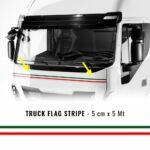 Striscia Autoadesiva Tricolore Italia 5 cm