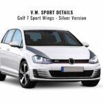 Stripes Strisce Sagomate per Cofano Golf 7 argento