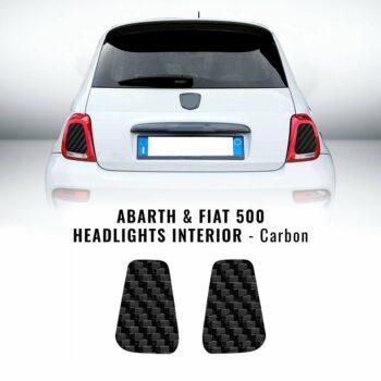 Adesivi Interno Fari Abarth e Fiat 500 carbon