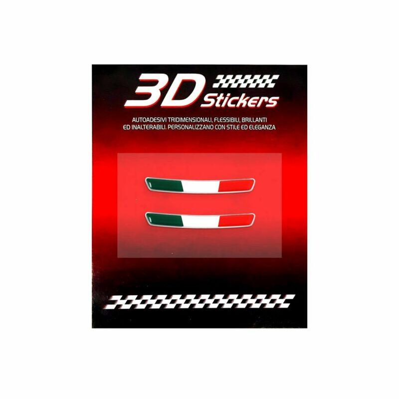 Kit Adesivo Alfa Romeo Logo 51 mm + Bandiera per Interno Giulia e Stelvio cartoncino per tricolore