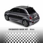 Kit di Decorazione a Scacchi per Tetto Fiat 500 bianco