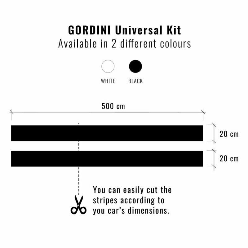 Stripes Strisce Adesive Kit Gordini Renault dimensioni