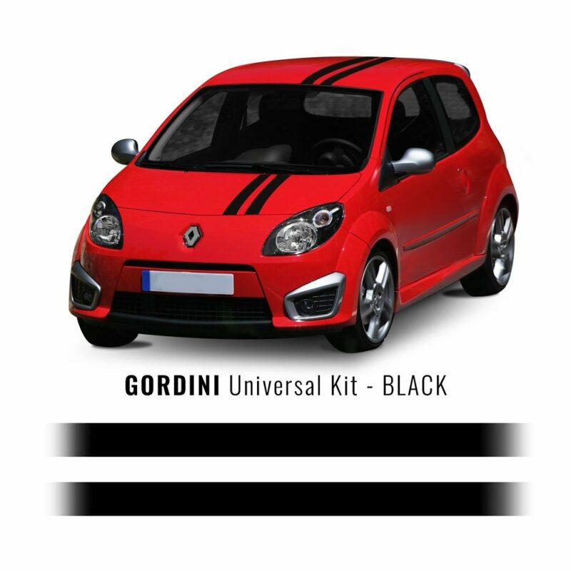 Stripes Strisce Adesive Kit Gordini Renault nero