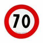 Contrassegno Limite Velocità Adesivo Omologato Eu 70