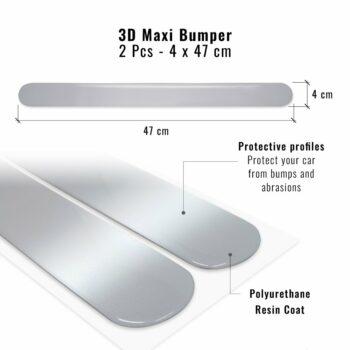 Bumper Paracolpi Universali per Auto, 40 mm x 47 cm, 2 Pezzi