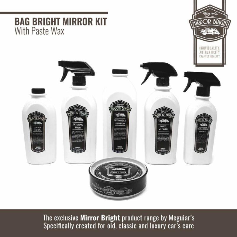 Meguiar's kit Mirror Bright con cera in pasta, borsa e accessori, prodotti
