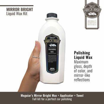 Meguiar's kit cera liquida, cera Mirror Bright
