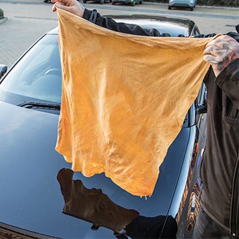 Meguiar's Natural Chamois panno in camoscio, utilizzo