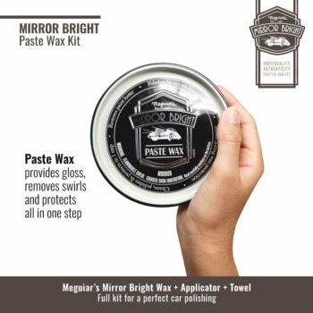 Meguiar's kit cera in pasta, cera Mirror Bright