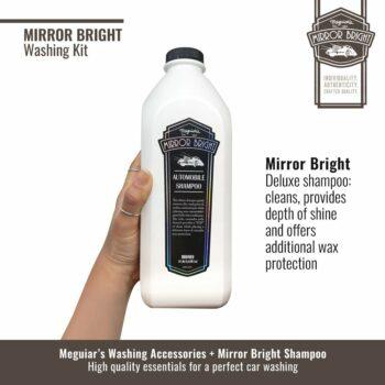 Meguiar's kit lavaggio Mirror Bright, shampoo