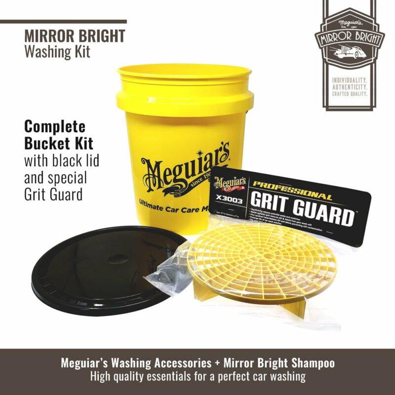 Meguiar's kit lavaggio Mirror Bright, secchio e accessori