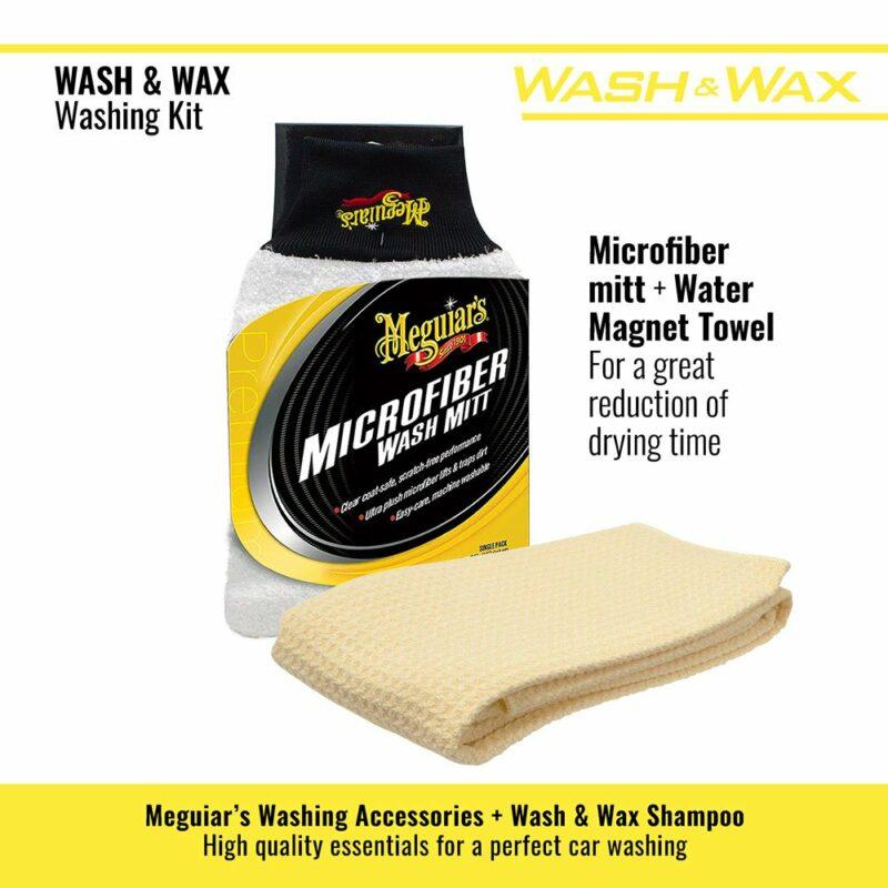 Meguiar's kit lavaggio Wash and Wax guanto e panno