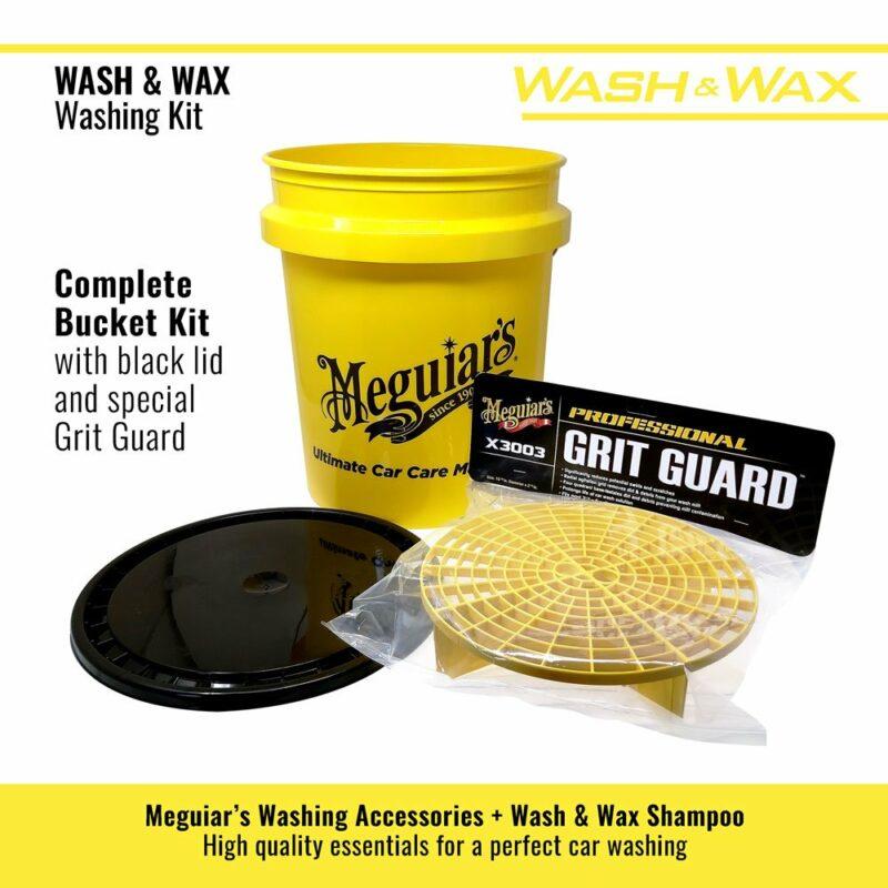 Meguiar's kit lavaggio Wash and Wax secchio e accessori