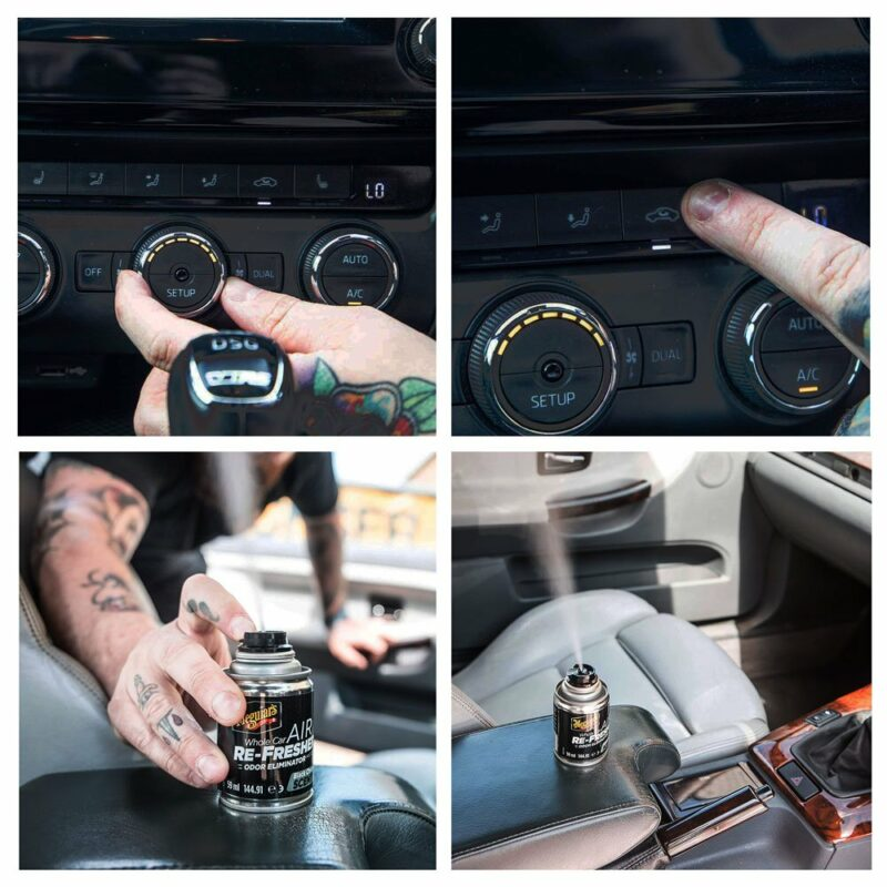 Meguiar's rimuovi odori rinfrescante per auto, Black Chrome, esempio d'uso
