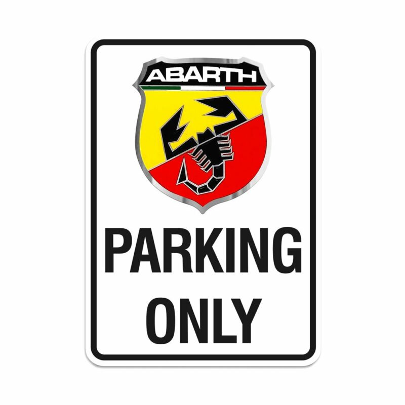 Abarth Cartello Parking Only, 28 x 40 cm