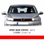 Stripes Rosso per Golf 6