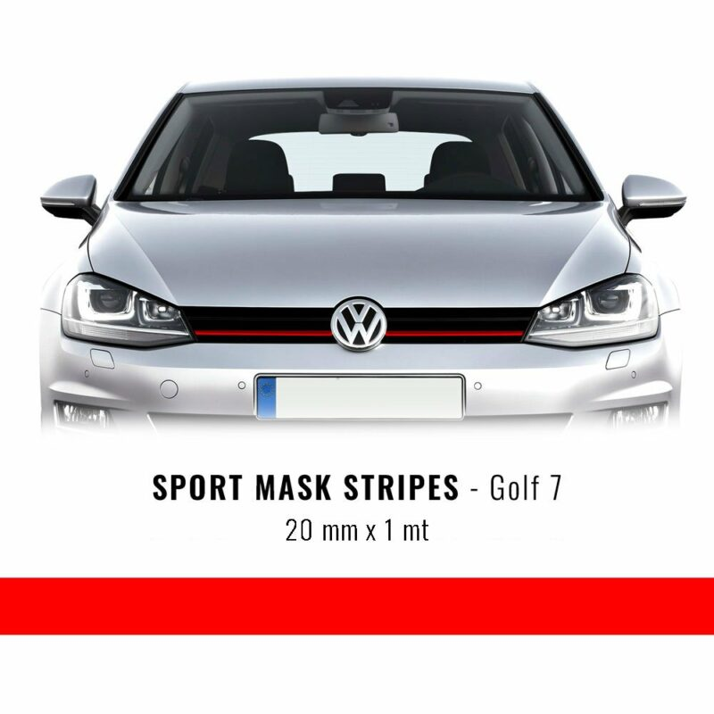 Stripes Rosso per Golf 7