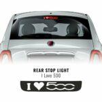 Adesivo Cover Luce Terzo Stop i love 500