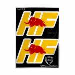 Adesivi HF Chrome Tabs 2 Loghi, 94 x 131 mm