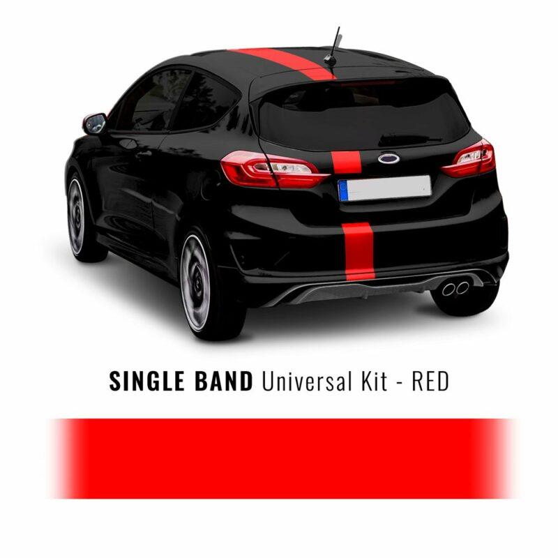 Stripe Striscia Adesiva Universale per Auto, 15 x 500 cm rosso