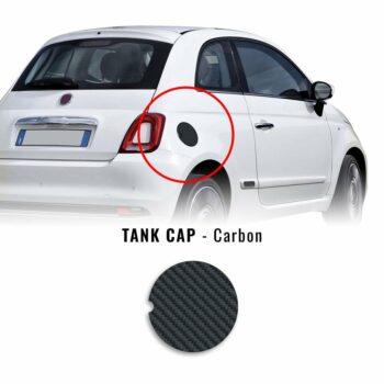 Adesivo Tappo Serbatoio Fiat 500 Abarth carbon