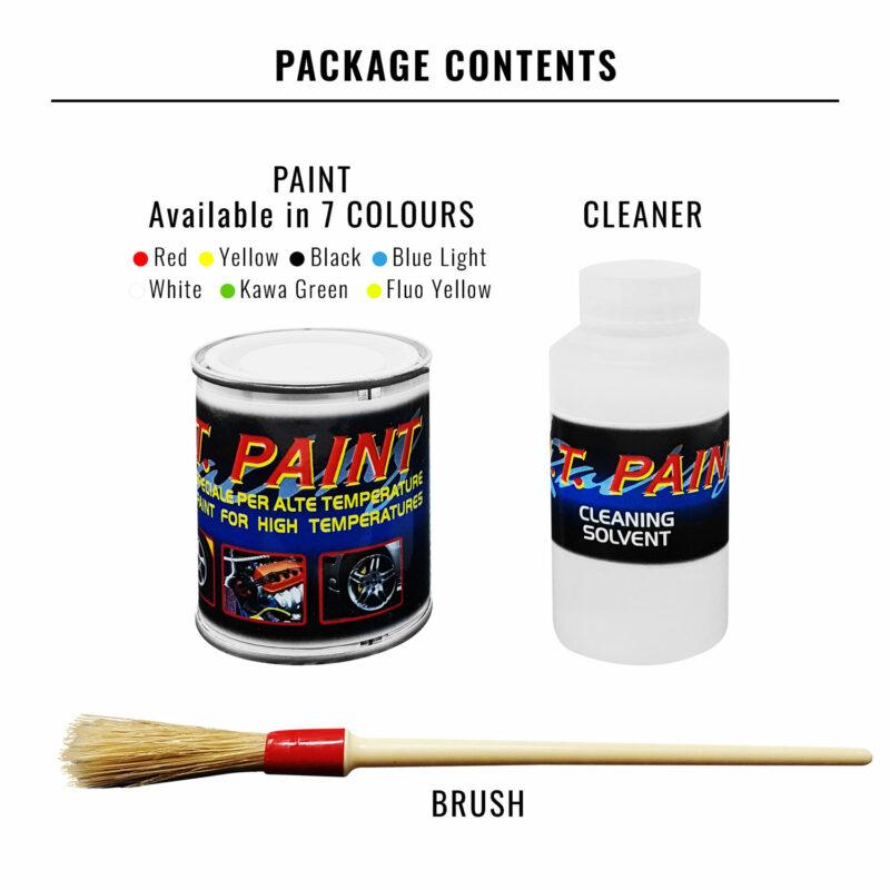 vernice pinze freni, contenuto della confezione e colori disponibili