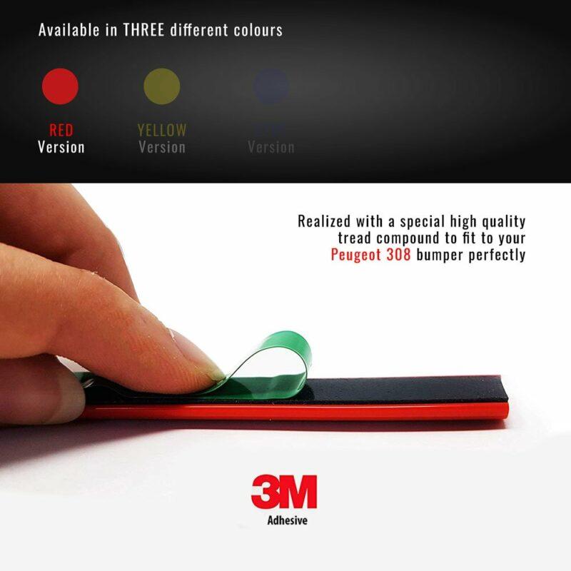 profilo adesivo peugeot 308 biadesivo rosso