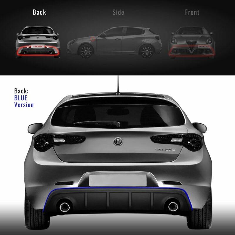 Profilo blu paraurti posteriore Alfa Giulietta