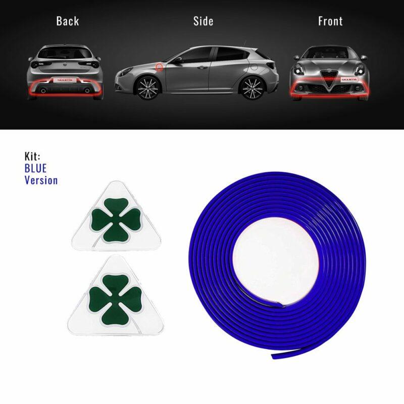 Profilo full blu + Quadrifoglio Verde 3D per Alfa Giulietta