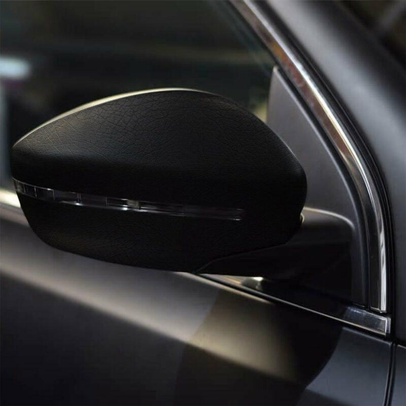 Pellicola adesiva per wrapping black cuir applicazione su auto