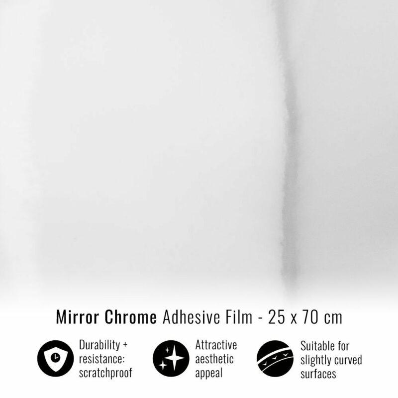 pellicola adesiva per wrapping mirror chrome 25x70