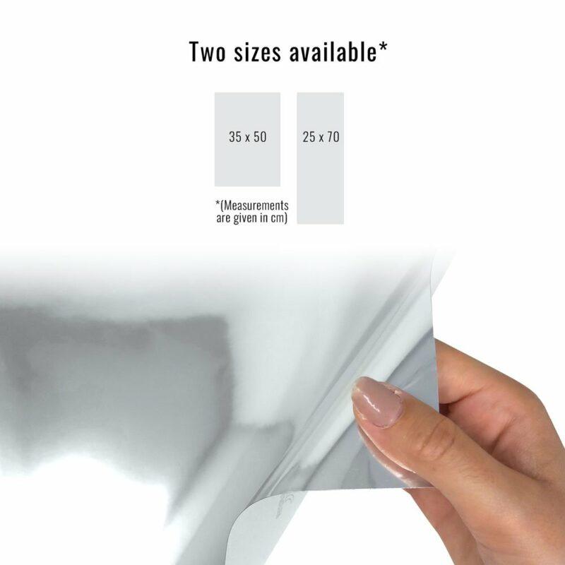 pellicola adesiva per wrapping mirror chrome dimensioni