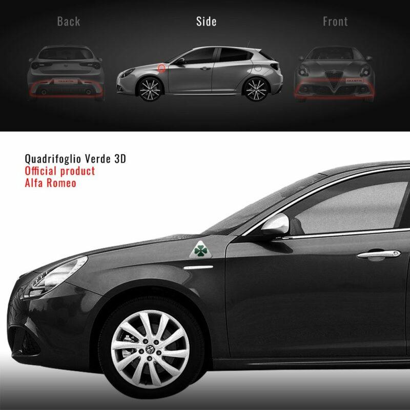 Quadrifoglio Verde 3D su Alfa Giulietta